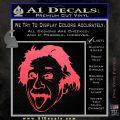 Einstein Sticking Tongue Out Decal Sticker Pink Vinyl Emblem 120x120