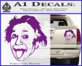 Einstein Sticking Tongue Out Decal Sticker Purple Vinyl 120x97