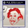 Einstein Sticking Tongue Out Decal Sticker Red Vinyl 120x120