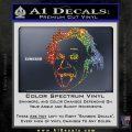 Einstein Sticking Tongue Out Decal Sticker Sparkle Glitter Vinyl 120x120