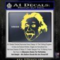 Einstein Sticking Tongue Out Decal Sticker Yelllow Vinyl 120x120