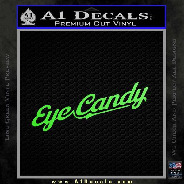Eye Candy JDM Decal Sticker Lime Green Vinyl