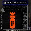 F Bomb D2 Decal Sticker Orange Vinyl Emblem 120x120