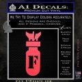F Bomb D2 Decal Sticker Pink Vinyl Emblem 120x120