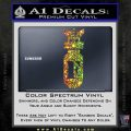 F Bomb D2 Decal Sticker Sparkle Glitter Vinyl 120x120