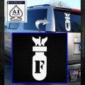 F Bomb D2 Decal Sticker White Emblem 120x120