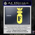 F Bomb D2 Decal Sticker Yelllow Vinyl 120x120