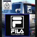 FILA Logo RDZ Decal Sticker White Emblem 120x120