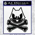 Felix The Cat Crossbones Decal Sticker Black Logo Emblem 120x120