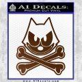 Felix The Cat Crossbones Decal Sticker Brown Vinyl 120x120