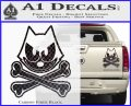 Felix The Cat Crossbones Decal Sticker Carbon Fiber Black 120x97