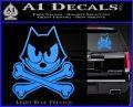Felix The Cat Crossbones Decal Sticker Light Blue Vinyl 120x97