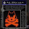 Felix The Cat Crossbones Decal Sticker Orange Vinyl Emblem 120x120