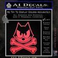 Felix The Cat Crossbones Decal Sticker Pink Vinyl Emblem 120x120