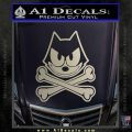 Felix The Cat Crossbones Decal Sticker Silver Vinyl 120x120