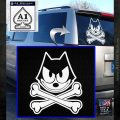 Felix The Cat Crossbones Decal Sticker White Emblem 120x120