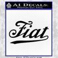 Fiat Decal Sticker Black Logo Emblem 120x120
