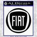 Fiat Logo CR Decal Sticker Black Logo Emblem 120x120