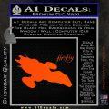 Firefly Serenity Decal Sticker Orange Vinyl Emblem 120x120