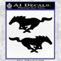 Ford Mustang Decal Sticker 2pk Black Logo Emblem 120x120
