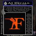Franchi Firearms F Decal Sticker Orange Vinyl Emblem 120x120