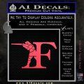Franchi Firearms F Decal Sticker Pink Vinyl Emblem 120x120
