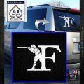 Franchi Firearms F Decal Sticker White Emblem 120x120
