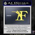 Franchi Firearms F Decal Sticker Yelllow Vinyl 120x120