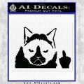 GRUMPY CAT MIDDLE FINGER VINYL DECAL STICKER Black Logo Emblem 120x120