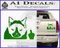 GRUMPY CAT MIDDLE FINGER VINYL DECAL STICKER Green Vinyl 120x97