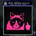 GRUMPY CAT MIDDLE FINGER VINYL DECAL STICKER Hot Pink Vinyl 120x120