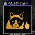 GRUMPY CAT MIDDLE FINGER VINYL DECAL STICKER Metallic Gold Vinyl 120x120