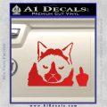 GRUMPY CAT MIDDLE FINGER VINYL DECAL STICKER Red Vinyl 120x120