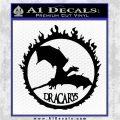 Game Of Thrones Dracarys Decal Sticker Black Logo Emblem 120x120