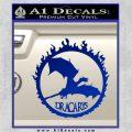 Game Of Thrones Dracarys Decal Sticker Blue Vinyl 120x120