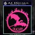 Game Of Thrones Dracarys Decal Sticker Hot Pink Vinyl 120x120