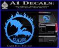 Game Of Thrones Dracarys Decal Sticker Light Blue Vinyl 120x97