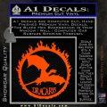 Game Of Thrones Dracarys Decal Sticker Orange Vinyl Emblem 120x120