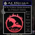 Game Of Thrones Dracarys Decal Sticker Pink Vinyl Emblem 120x120