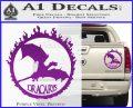Game Of Thrones Dracarys Decal Sticker Purple Vinyl 120x97