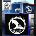Game Of Thrones Dracarys Decal Sticker White Emblem 120x120