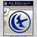 Game Of Thrones House of Arryn Decal Sticker Blue Vinyl 120x120