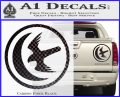 Game Of Thrones House of Arryn Decal Sticker Carbon Fiber Black 120x97