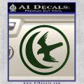 Game Of Thrones House of Arryn Decal Sticker Dark Green Vinyl 120x120