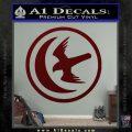Game Of Thrones House of Arryn Decal Sticker Dark Red Vinyl 120x120