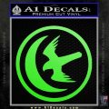 Game Of Thrones House of Arryn Decal Sticker Lime Green Vinyl 120x120