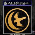 Game Of Thrones House of Arryn Decal Sticker Metallic Gold Vinyl Vinyl 120x120