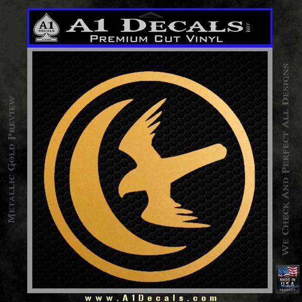Game Of Thrones House of Arryn Decal Sticker Metallic Gold Vinyl Vinyl