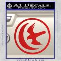 Game Of Thrones House of Arryn Decal Sticker Red Vinyl 120x120