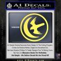 Game Of Thrones House of Arryn Decal Sticker Yelllow Vinyl 120x120
